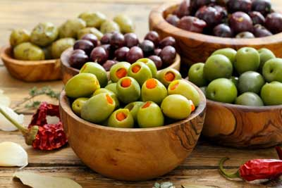 Olives et condiments