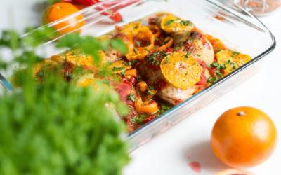Poulet au délice de tomates et à l'orange